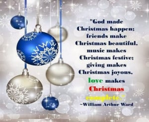 God made christmas happen: friends make christmas beautiful, music ...