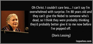More Doris Lessing Quotes