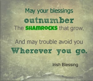 Irish Blessing Patricks Day Quotes Patrick Funny Picture