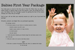 babies first year package price list for Seattle baby photographer ...