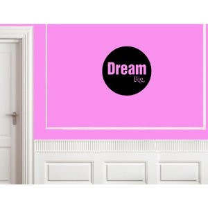 DREAM BIG Vinyl wall lettering stickers quotes and sayings home art ...