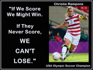 Christie Rampone Olympic Soccer Champion Photo Quote Mini Poster Wall ...