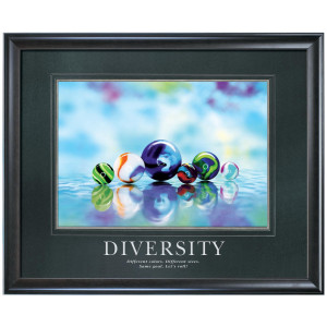 Diversity Marbles Motivational Poster (733446)