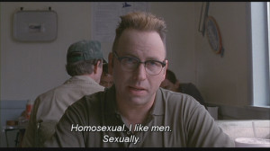 Vaughan Cunningham: [quietly] Homosexual. I like men sexually.