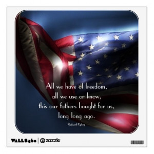 american_flag_with_freedom_quote_wall_decals ...