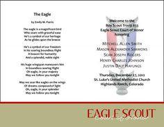 khaki eagle scout court of honor programs more scouts coh scouts ...