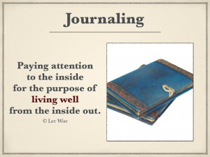 Speaking Of Journaling – Recording My Soul's Journey With God