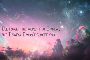 cute, forget, purple, quote, sky, text, this is from thatmat, this is ...