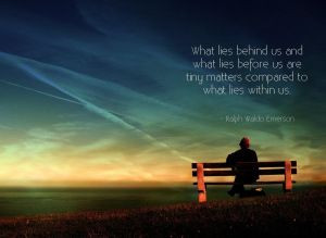 Great quote from Ralph Waldo Emerson who is my hero, by the way.