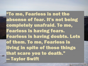 Download fearless quote image