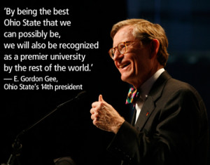... Gordon Gee started Oct. 1 as the university's 14th president