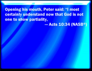 Acts 10:34 Bible Verse Slides