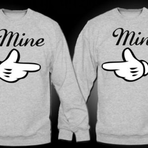 Mine - Couples Crewnecks (Ash Gray)