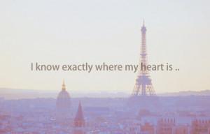 heart, paris, quotes, sad, where, words