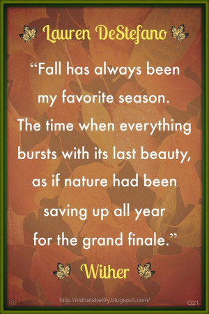 Fall #Quote From Wither by Lauren DeStefano ~ Design by Mulluane