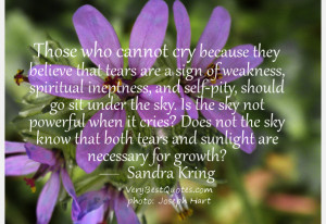... not powerful when it cries? Does not the sky know that both tears and