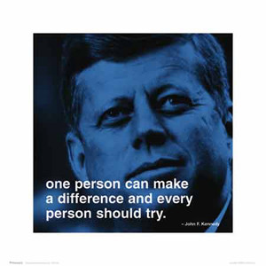 John F Kennedy MAKE A DIFFERENCE iPhilosophy Motivational Quotation ...