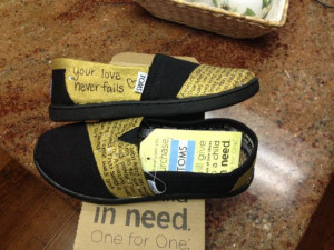 Custom TOMS Quotes with gems by SparkleShineCrafts on Etsy