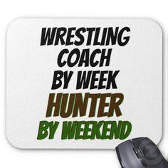 Wrestling Coach Hunter Mousepads More