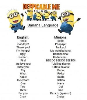 Minionese : la vraie langue des Minions !
