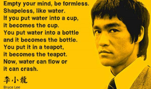bruce lee flow motivation picture quote