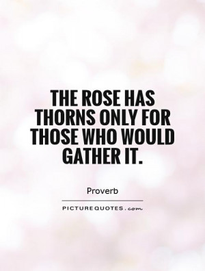 Rose With Thorns Quotes
