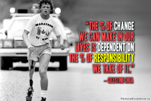 """Inspirational Quote: """"The % of change we can make in our lives is ..."""