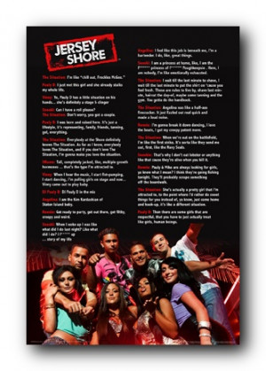 Details about Jersey Shore Quotes Poster 24x36 Cast Sayings 9114