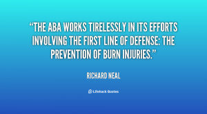 ... the first line of defense: the prevention of burn injuries
