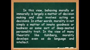 Lawrence Kohlberg Teacher's guide on the