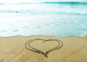 Heart in the Sand Beach Photograph