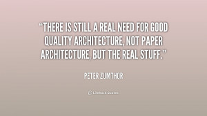 Peter Zumthor Quotes