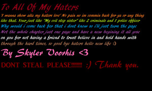 love haters quotes or sayings photo: To alla my haters ...
