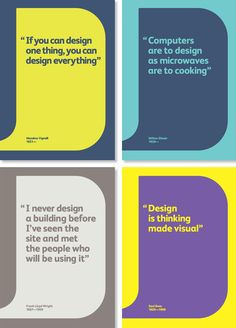 Love these business cards with designer quotes... More