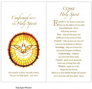 Confirmation Holy Spirit Quotes