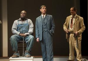 Tom Robinson (Peter Macon), Atticus Finch (Mark Murphey) and Heck Tate ...