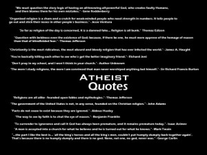Funny Atheist Quotes About Weird Things: Funny Atheism Quotes About ...