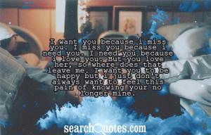 Sad I Need You Quotes