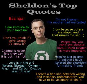 Sheldon's Top 10 Quotes