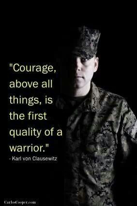 Courage above all else.