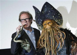 Actor Bill Nighy (L) who played a role of ''Davy Jones'', a character ...