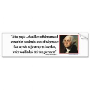 George Washington on Gun Rights Bumper Stickers