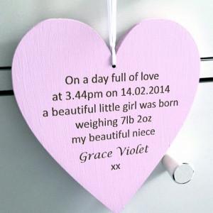 Baby Welcome Niece or Nephew Heart