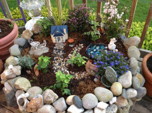 My largest fairy garden outside