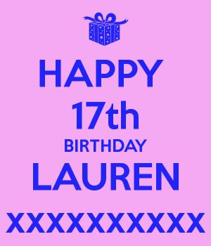 Happy 17th Birthday For Boys Happy birthday lauren cake