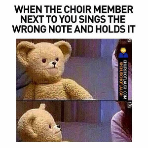 How's the church singing going lately?