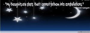 tags stars john green night sky quotes sayings myfbcovers com