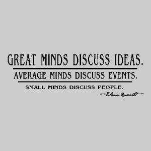 great minds eleanor roosevelt quotes wall words sayings decals