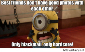 Best friends funny cartoon minion quote