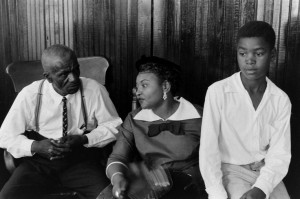 From left: Emmett Till's great-uncle, the Rev. Mose Wright; his mother ...